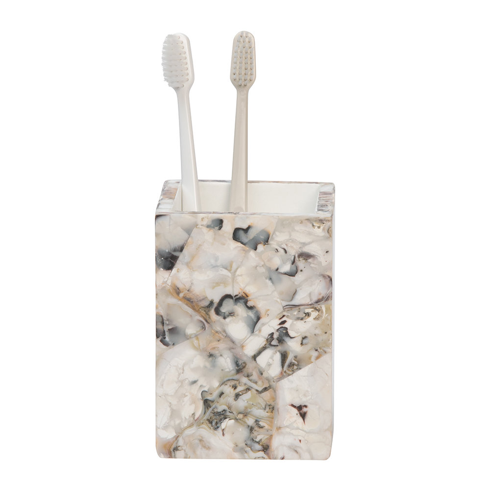 Pigeon & Poodle - Tramore Toothbrush Holder - Oyster Shell