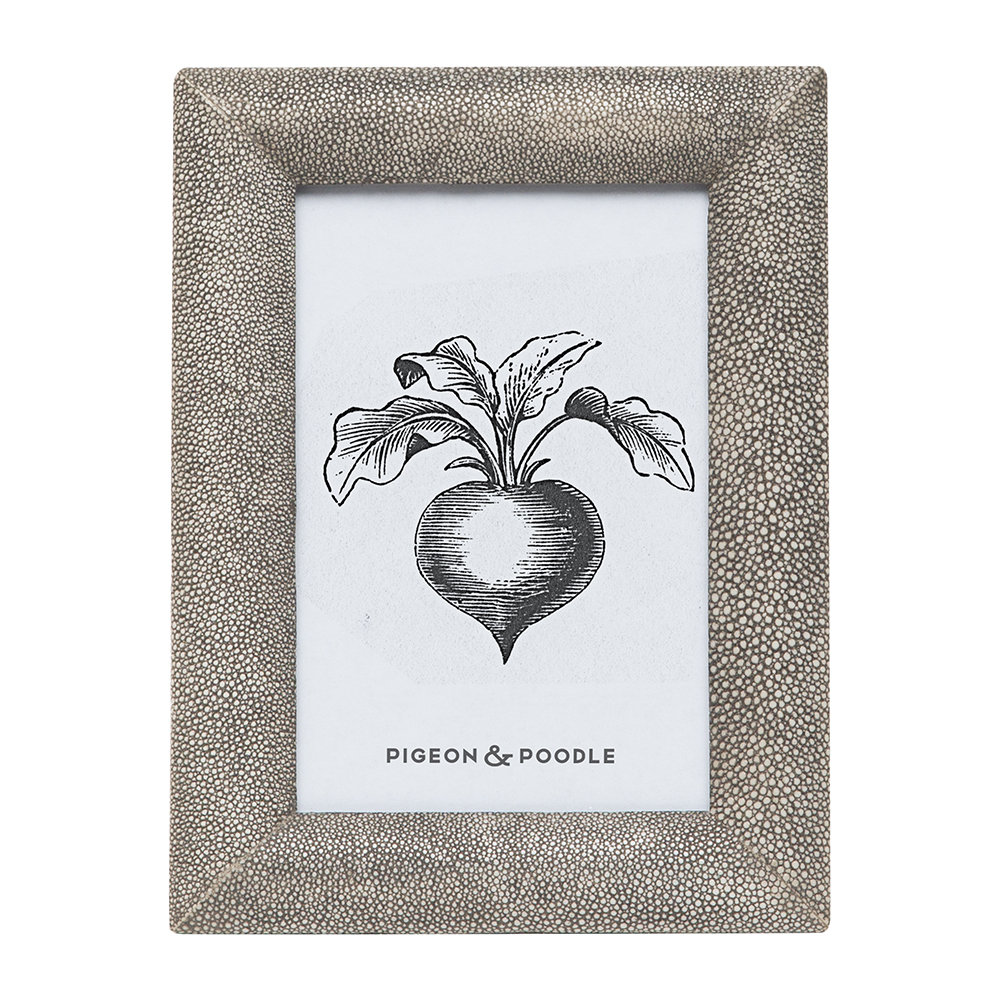 """Pigeon & Poodle - Oxford Faux Leather Frame - Sand - 4""""x6"""""""