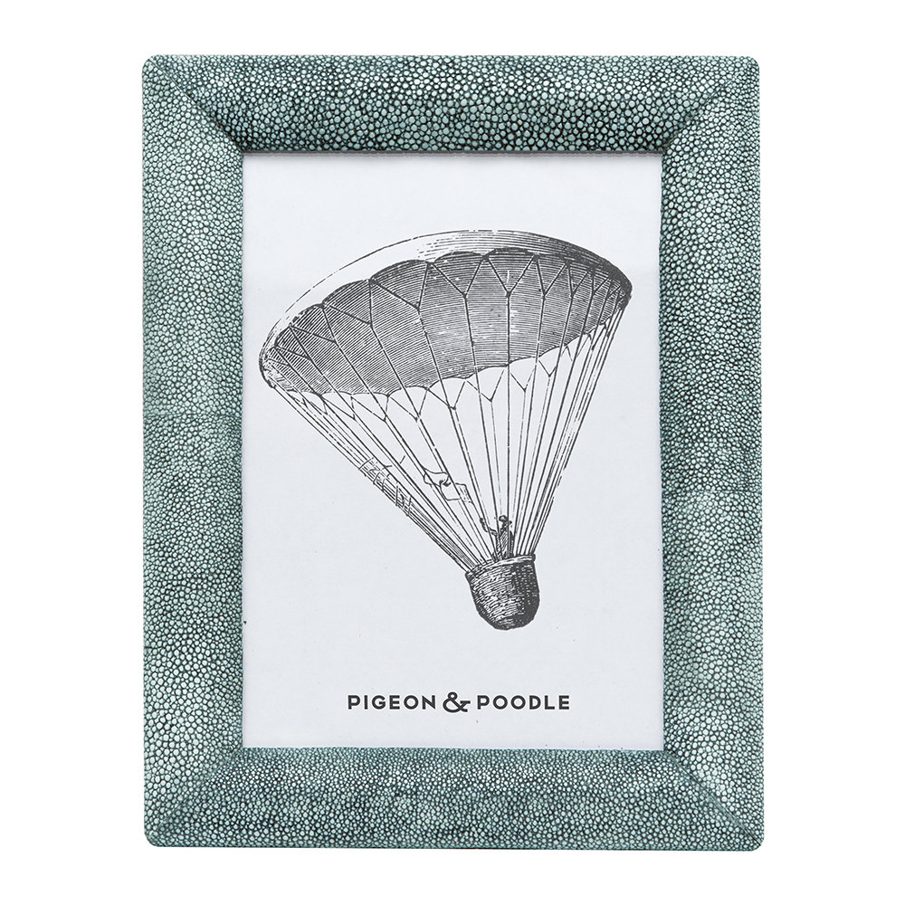 """Pigeon & Poodle - Oxford Faux Leather Frame - Turquoise - 5""""x7"""""""