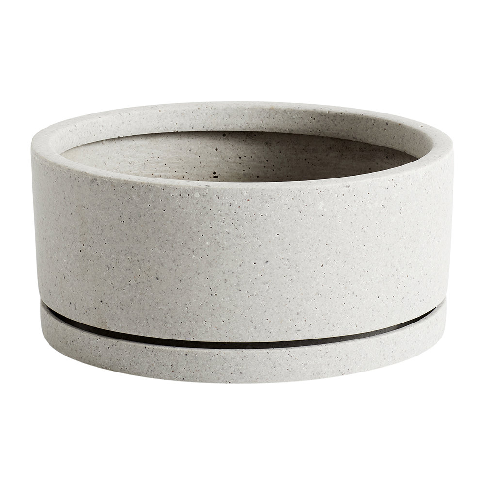 HAY - Plant Pot with Saucer - Grey - XL