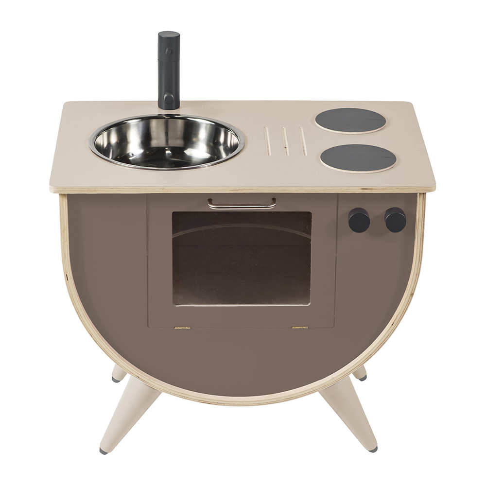 Wooden Play Kitchen - Warm Gray