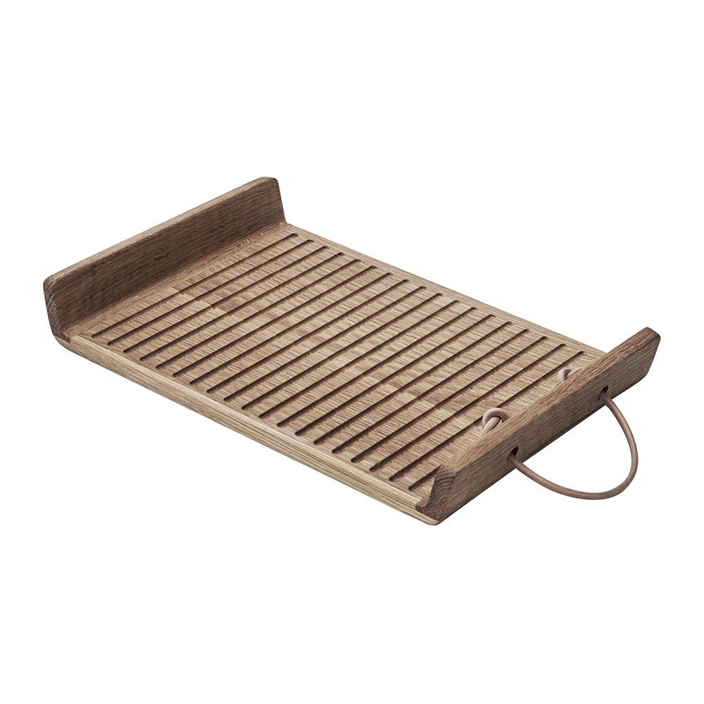 Morsø - Flow Oak Tray with Leather Handle - 35cm