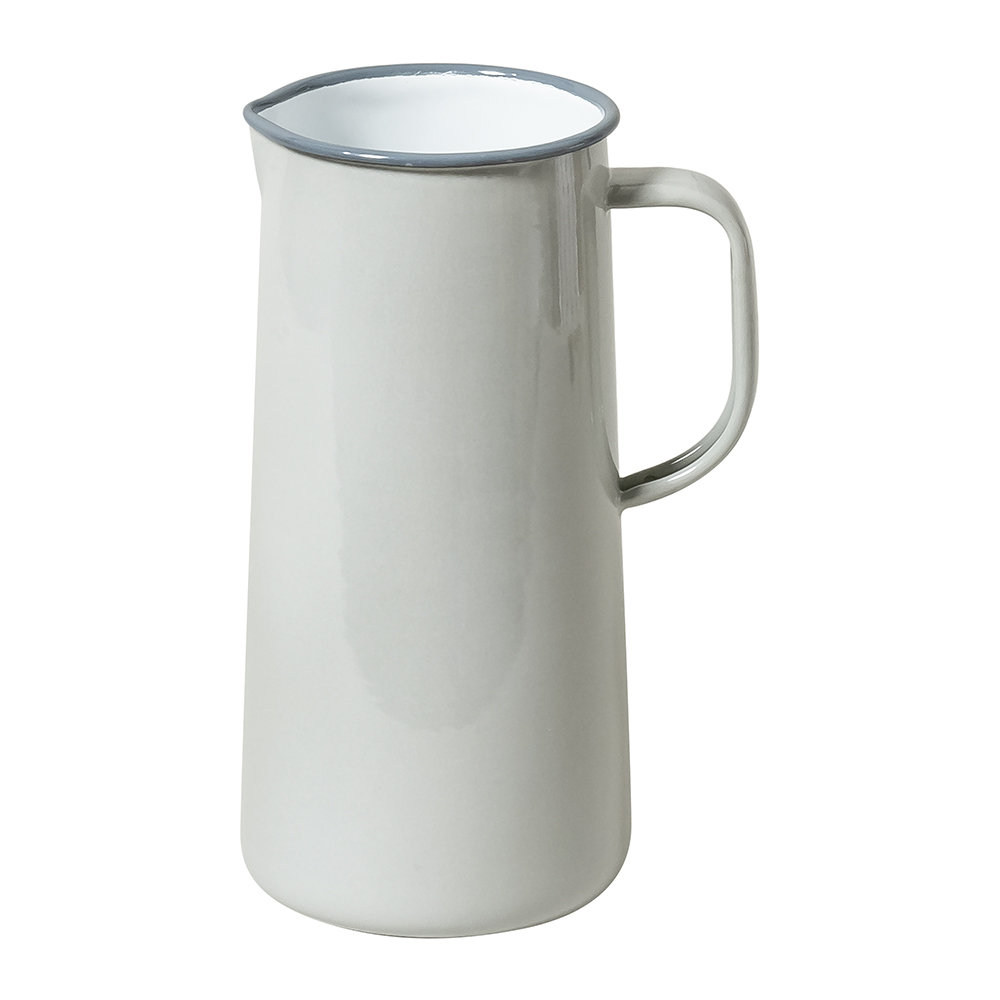 Falcon - Limited Edition Enamel Pitcher - 3 Pints - Oyster Gray