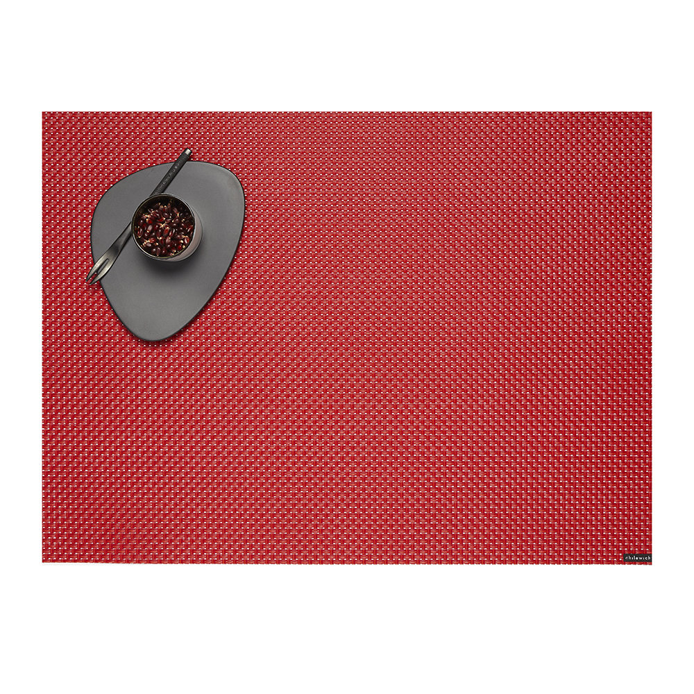 Chilewich - Basketweave Woven Rectangular Placemat - Chili