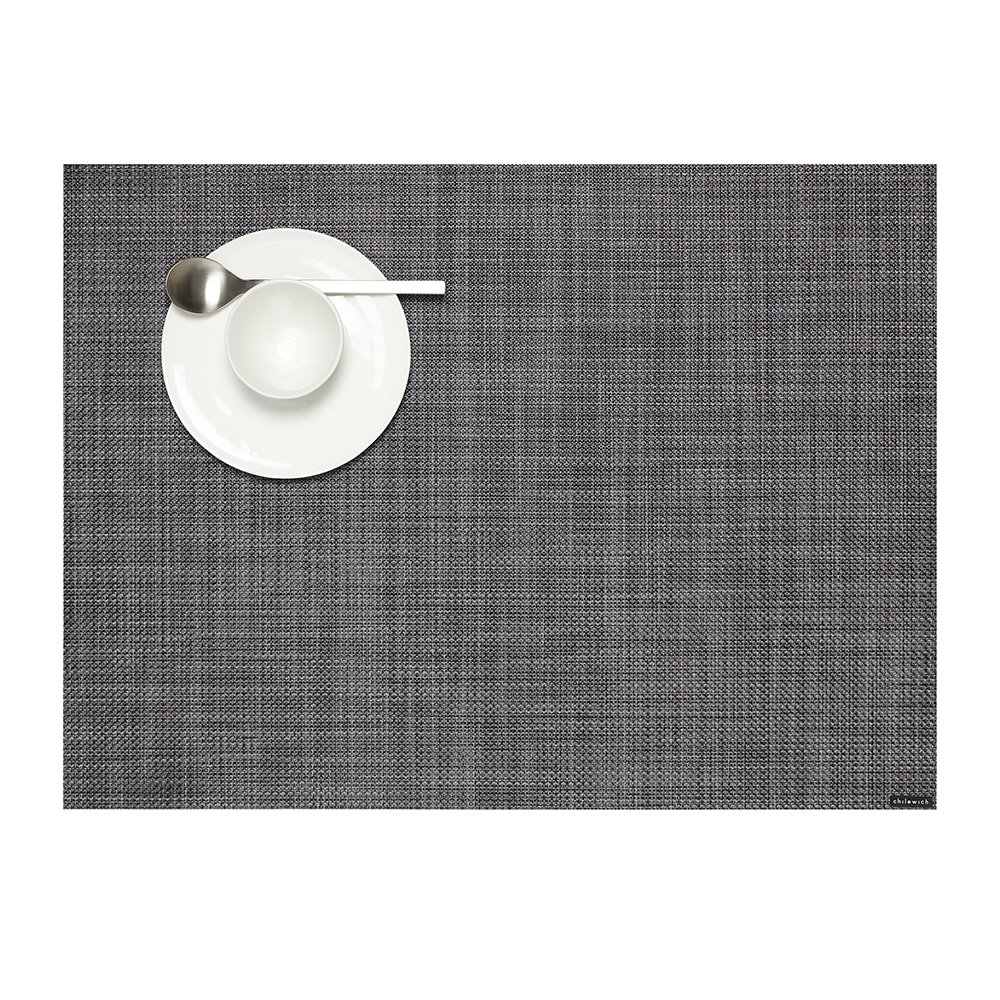 Chilewich - Basketweave Woven Rectangular Placemat - Cool Grey