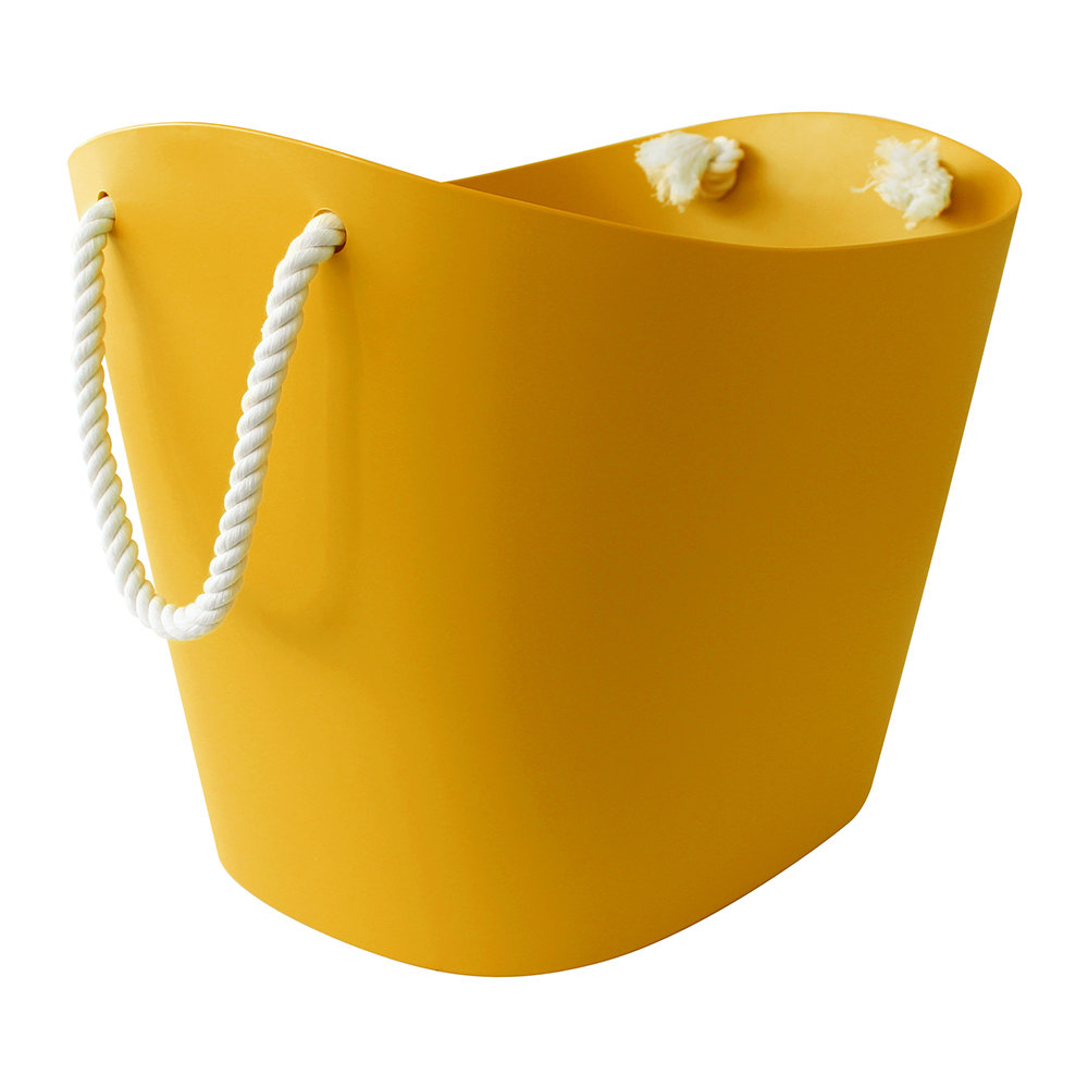 Hachiman - Balcolore Basket with Rope Handle - Mustard - Large