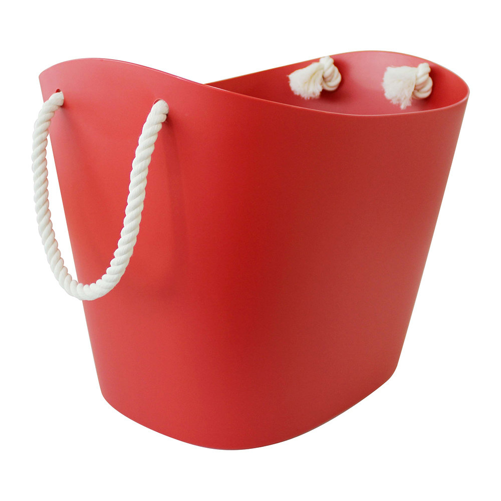 Hachiman - Balcolore Basket with Rope Handle - Red - Large