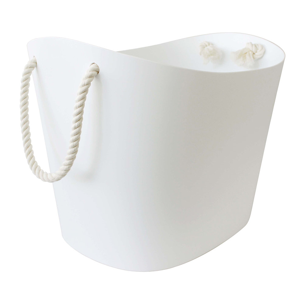 Hachiman - Balcolore Basket with Rope Handle - White - Large