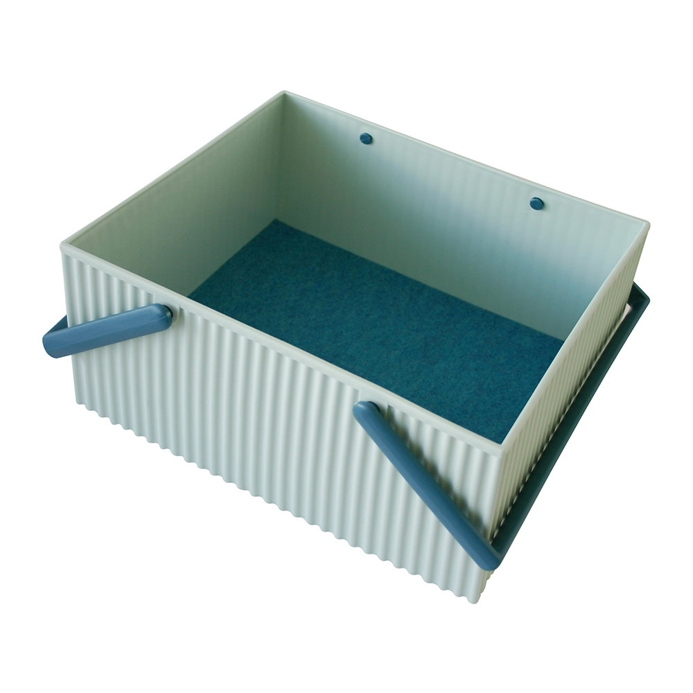 Hachiman - Omnioffre Carry Box with Handle  - Light Blue - Large