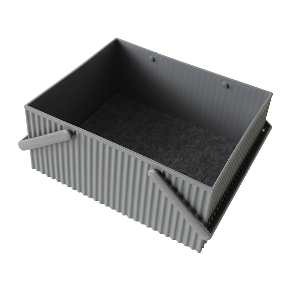 Hachiman - Omnioffre Carry Box with Handle  - Gray - Large