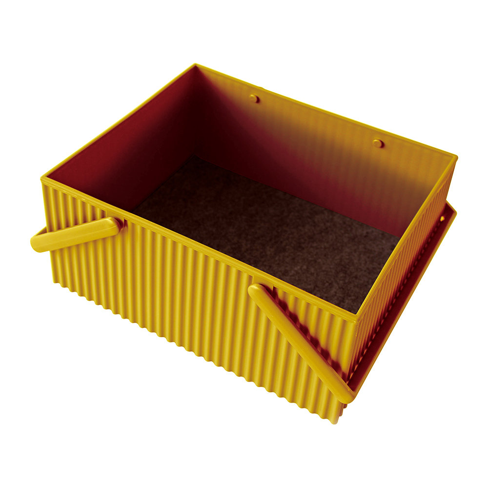 Hachiman - Omnioffre Carry Box with Handle  - Mustard - Large