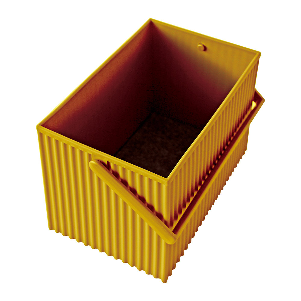 Hachiman - Omnioffre Carry Box with Handle  - Mustard - Medium