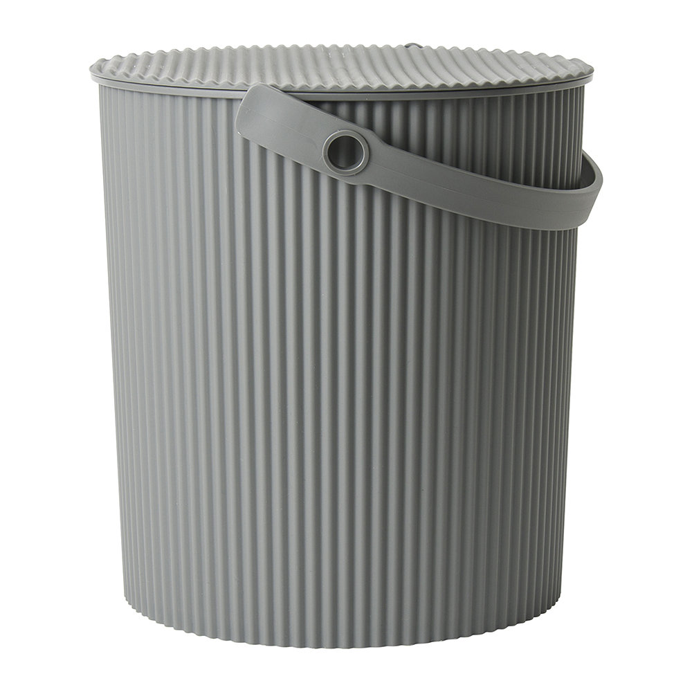 Hachiman - Omnioutil Storage Bucket with Lid - Gray - Large