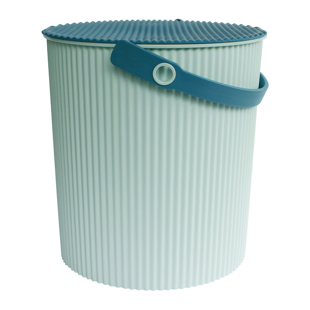 Hachiman - Omnioutil Storage Bucket with Lid - Light Blue - Large