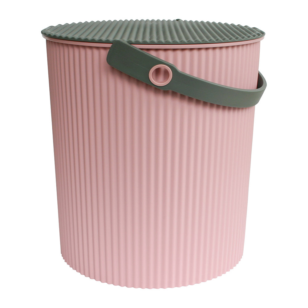 Hachiman - Omnioutil Storage Bucket with Lid - Rose - Large