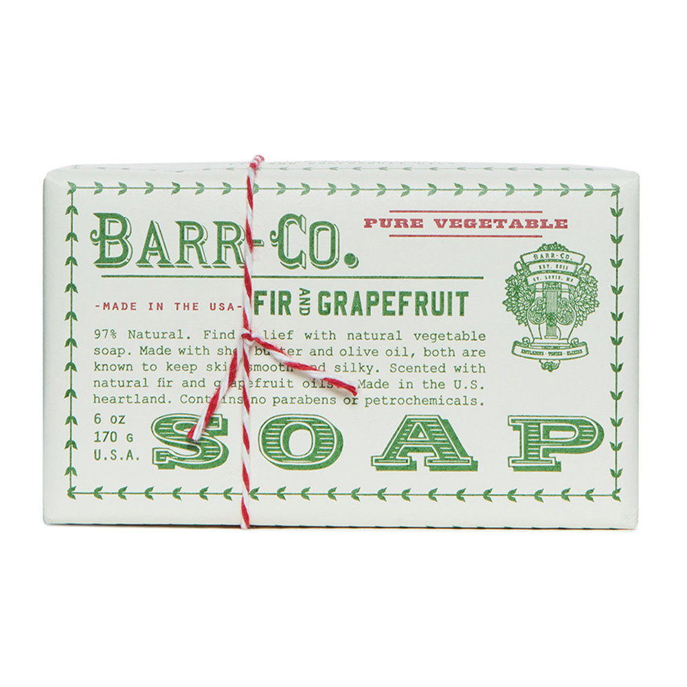 Barr-Co - Fir  Grapefruit Soap Bar