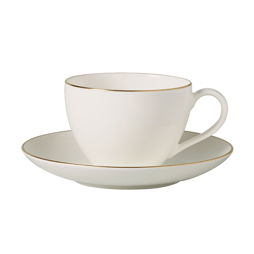Villeroy & Boch - 'Anmut Gold' Coffee Cup & Saucer