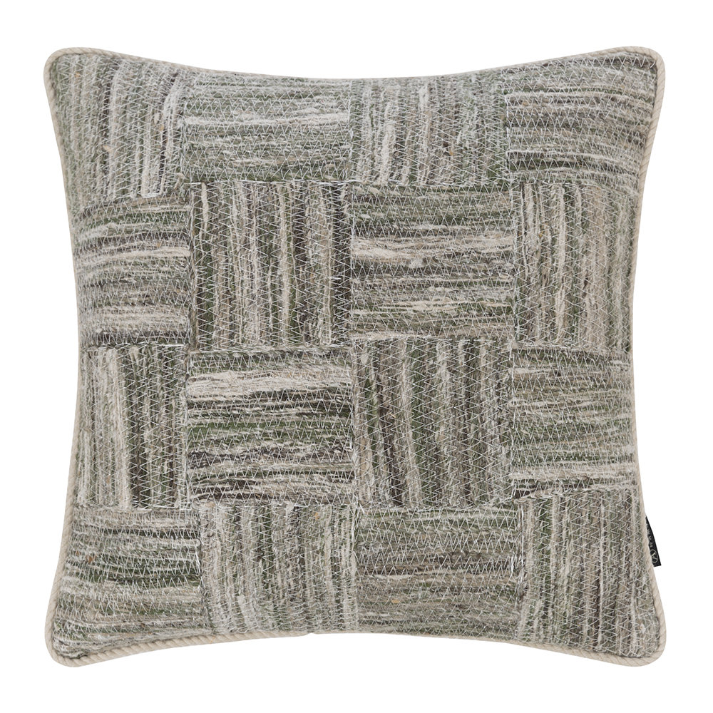 Retreat - Woven Tile Pillow - 40x40cm - Blue