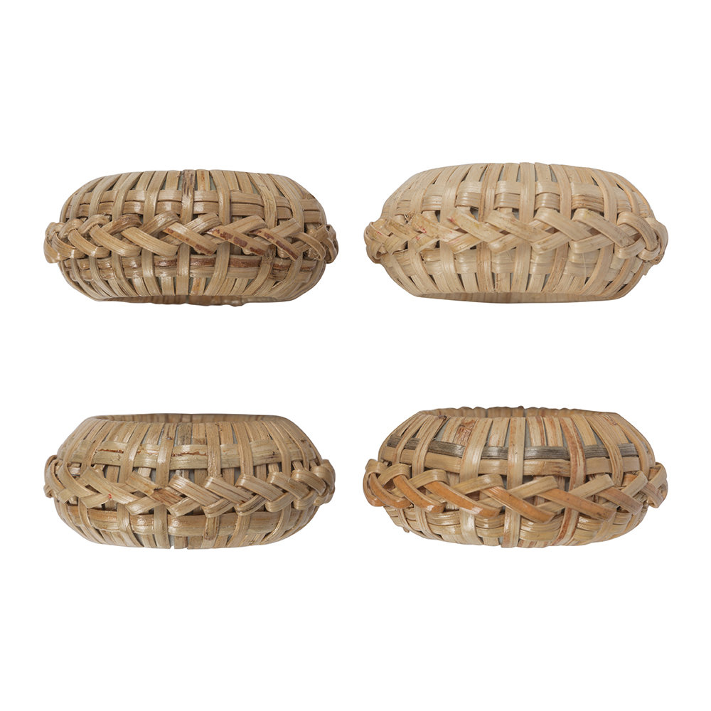 Image of A by AMARA - Wicker Napkin Ringet of 4