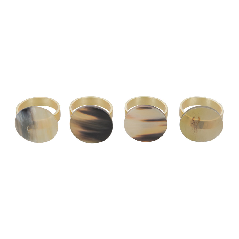 A by AMARA - Buffalo Horn Napkin Ring - Set of 4