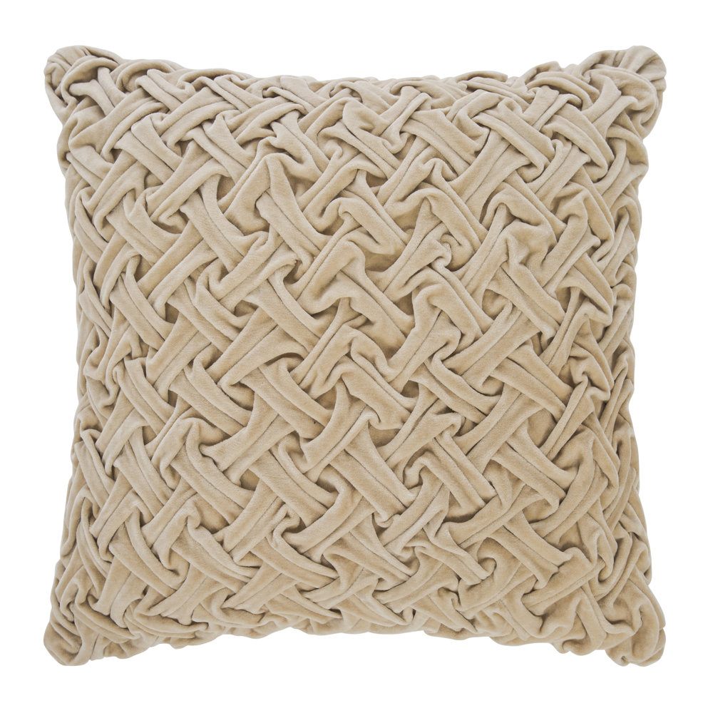 A by AMARA - Abstract Textured Cushion - Champagne