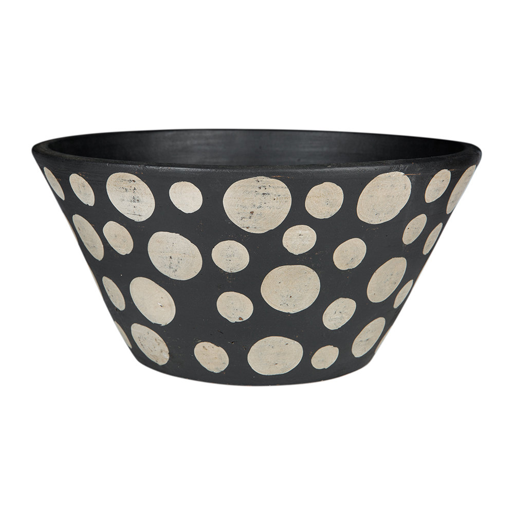 Image of A by AMARA - Black & White Spot Terracotta Bowl
