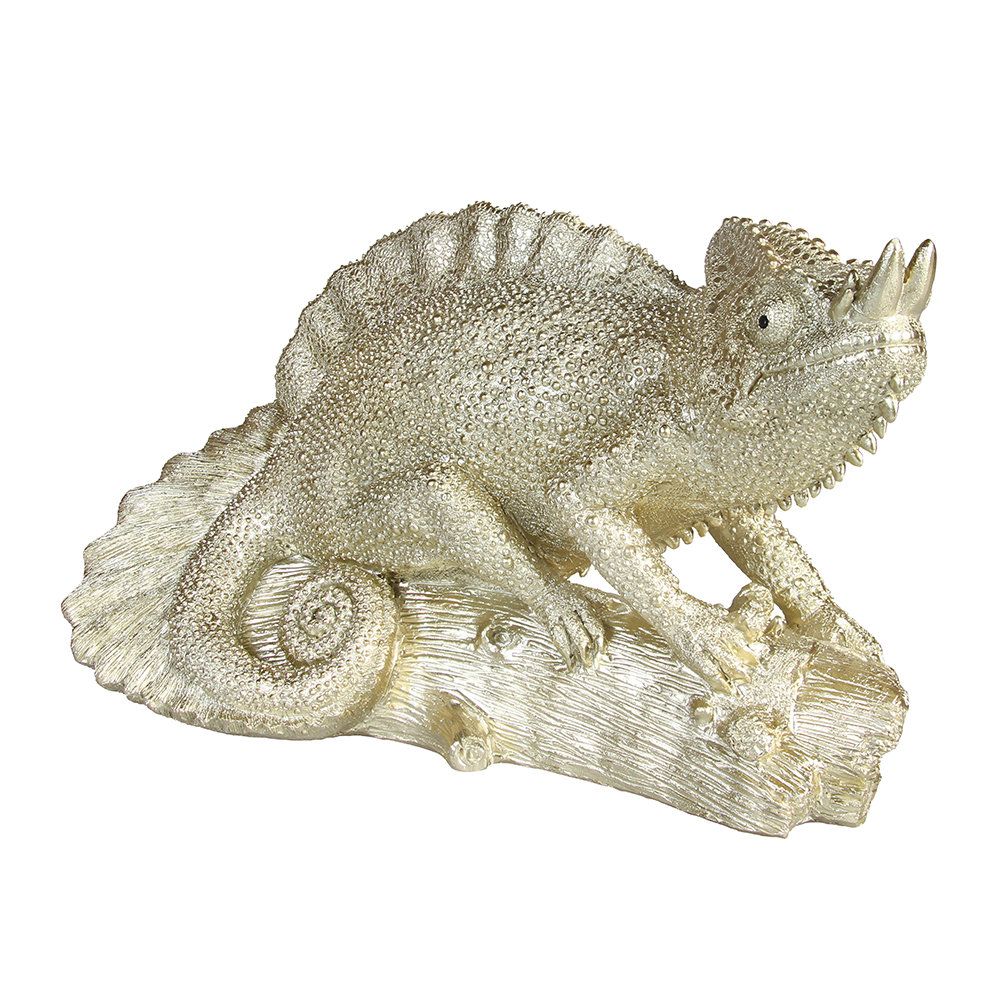 &Klevering - Chameleon Money Box - Gold