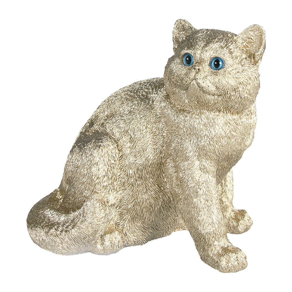 &Klevering - Cat Money Box - Gold