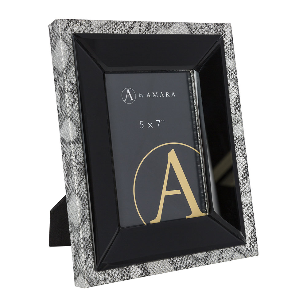 "Luxe - Snake Photo Frame - 5x7"" - Silver"