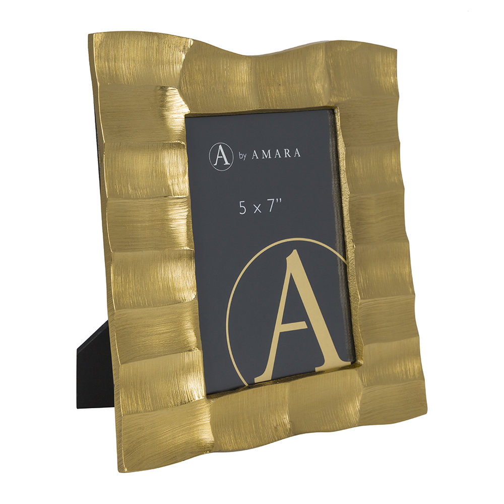 """Image of A by AMARA - Gold Photo Frame - 5x7"""" - Gold"""