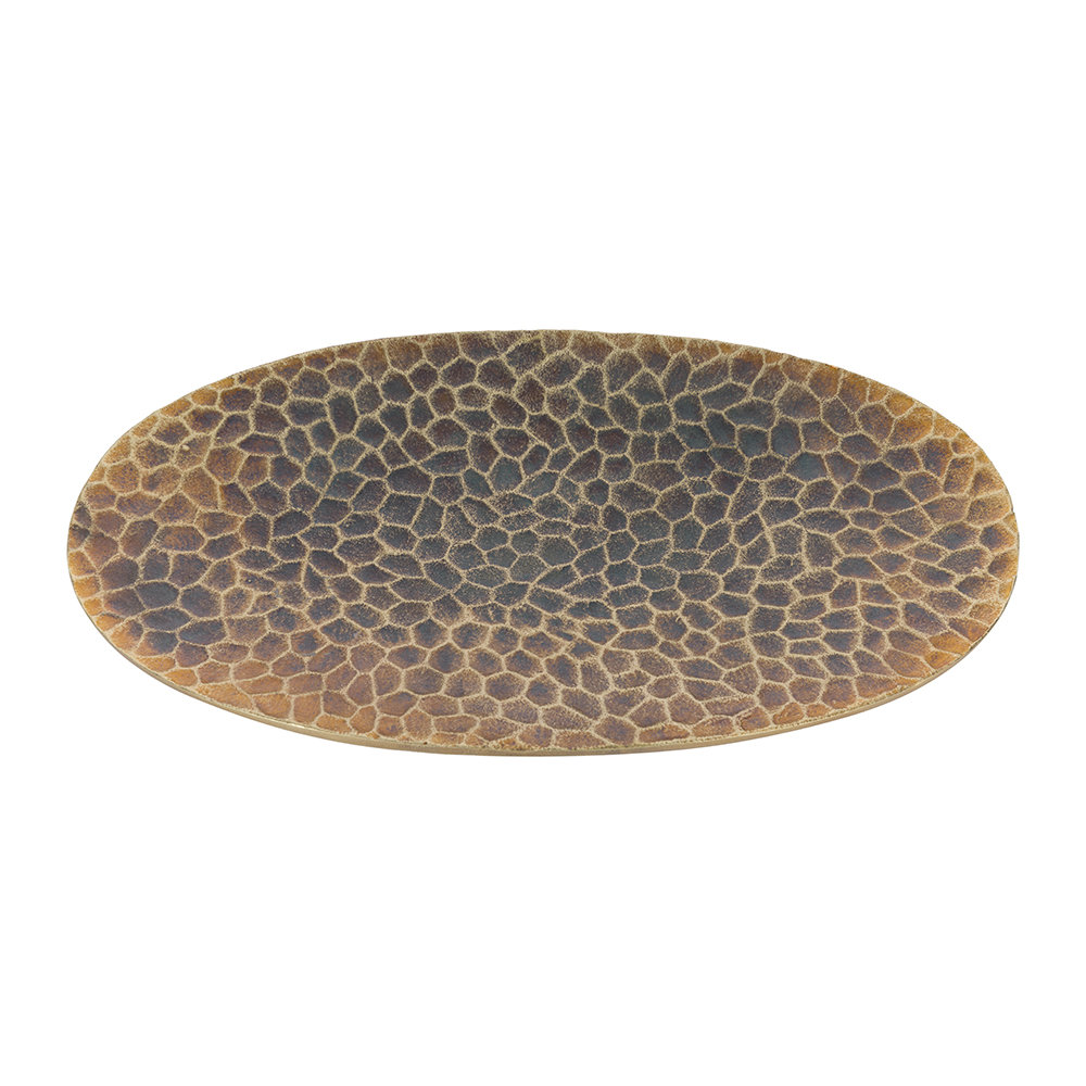 A by AMARA - Textured Oval Platter - Copper