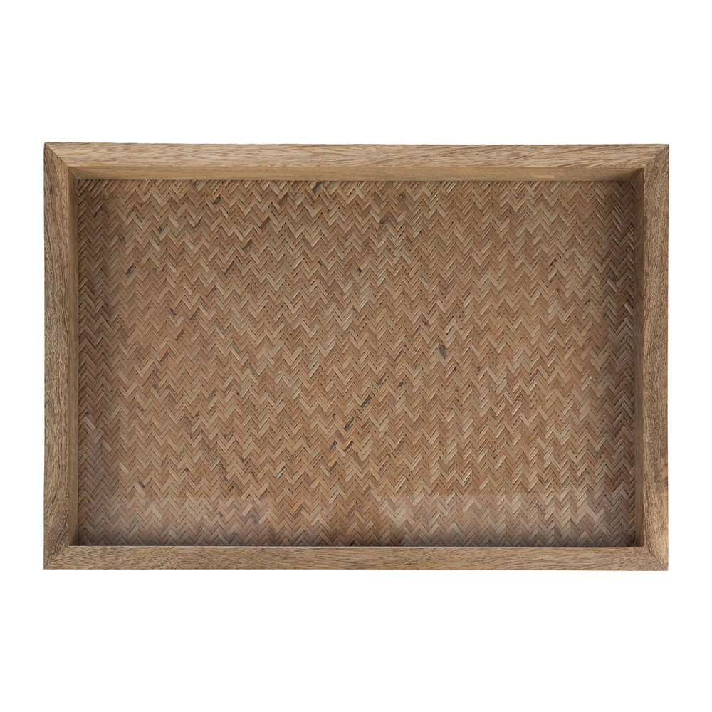 Retreat - Woven Base Wooden Tray