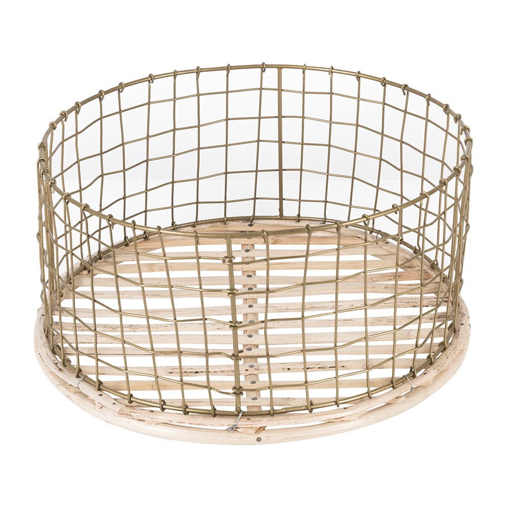 A by AMARA - Shallow Gold Wire Basket