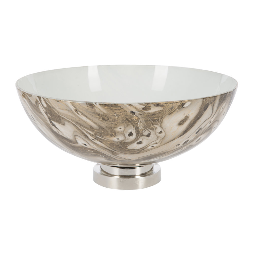 A by AMARA - Antique Look Marbled Glass Bowl