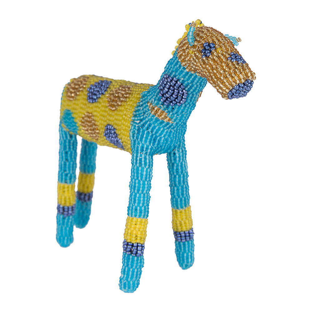 Source - Animal Ornament - Blue/Yellow - Small