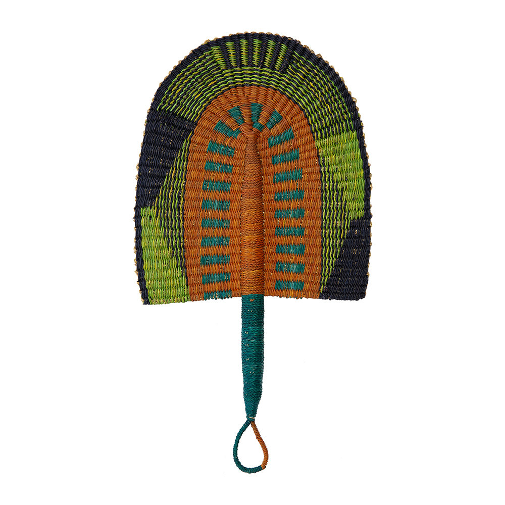 Source - Bolga Crafted Fan - Multicolour