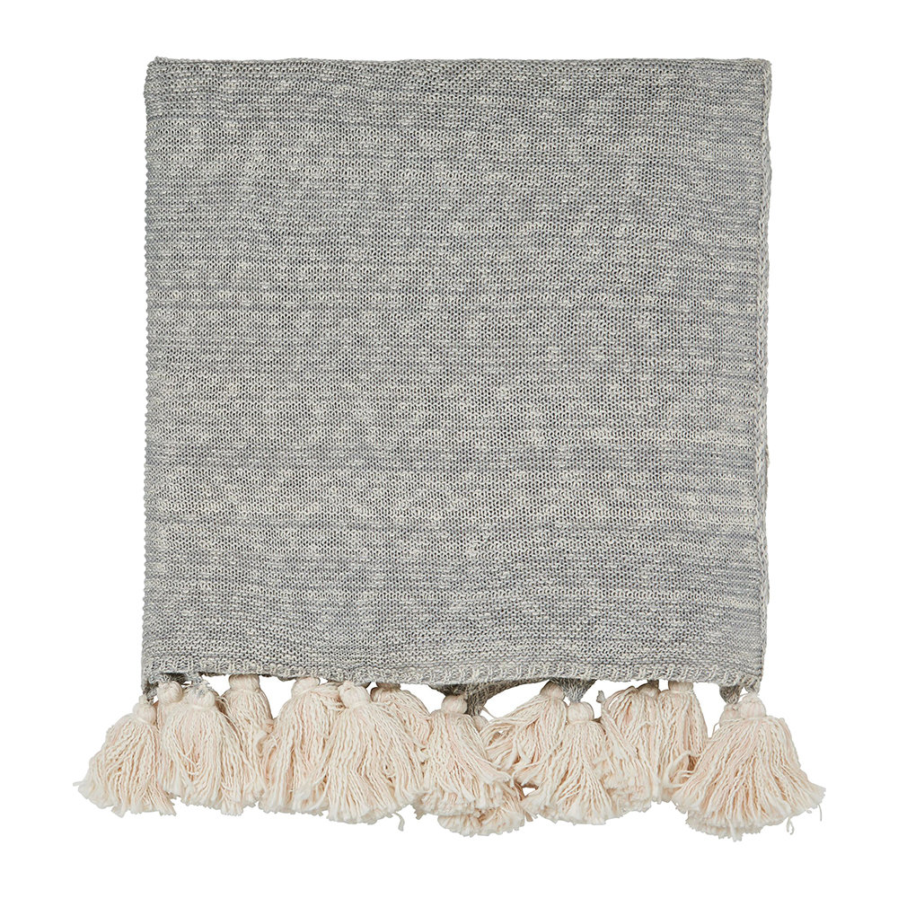 Scion - Composition Knitted Throw - Putty