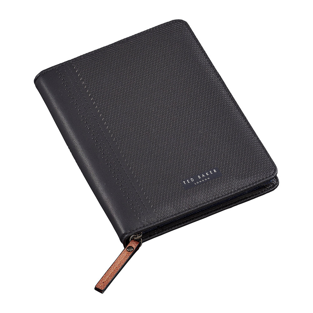 Ted Baker - A5 Zip Folio - Black