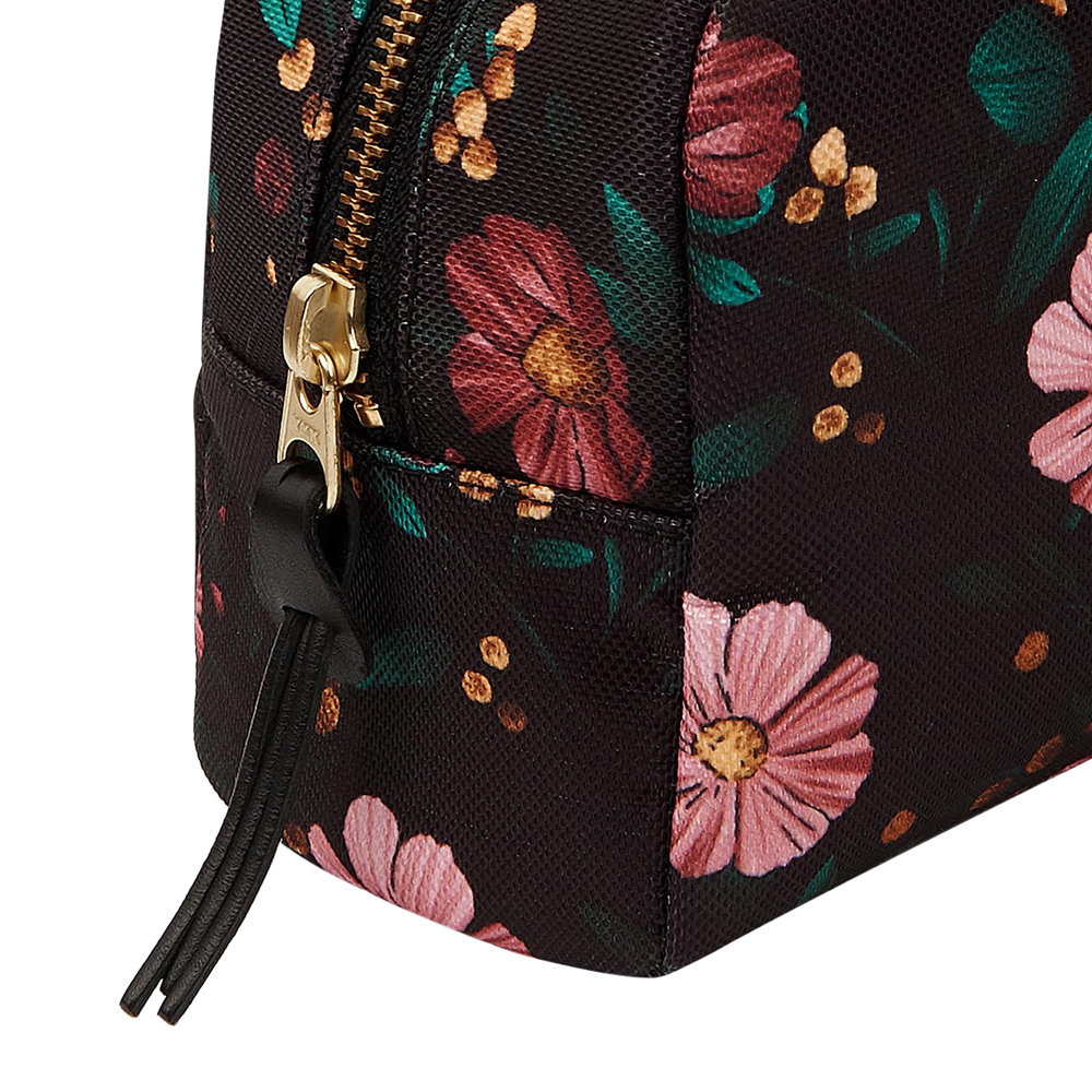 Wouf - Black Flowers Cosmetic Bag - Large