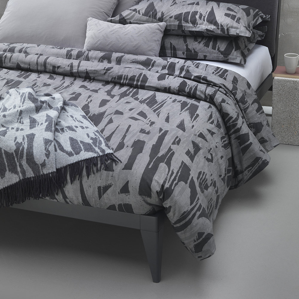 Diesel Living - Graffiti Quilt Cover - Charcoal - King