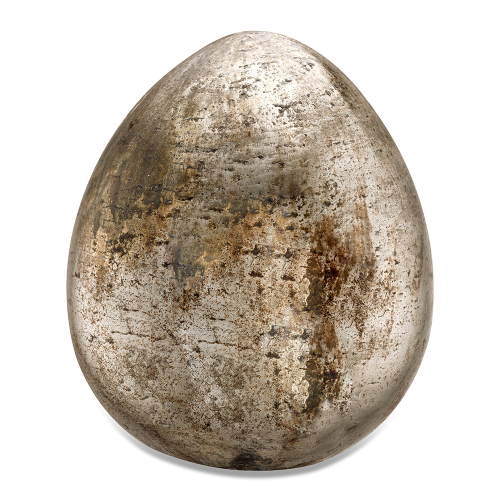 Nkuku - Aban Decorative Rustic Egg - Rustic Gold - Large