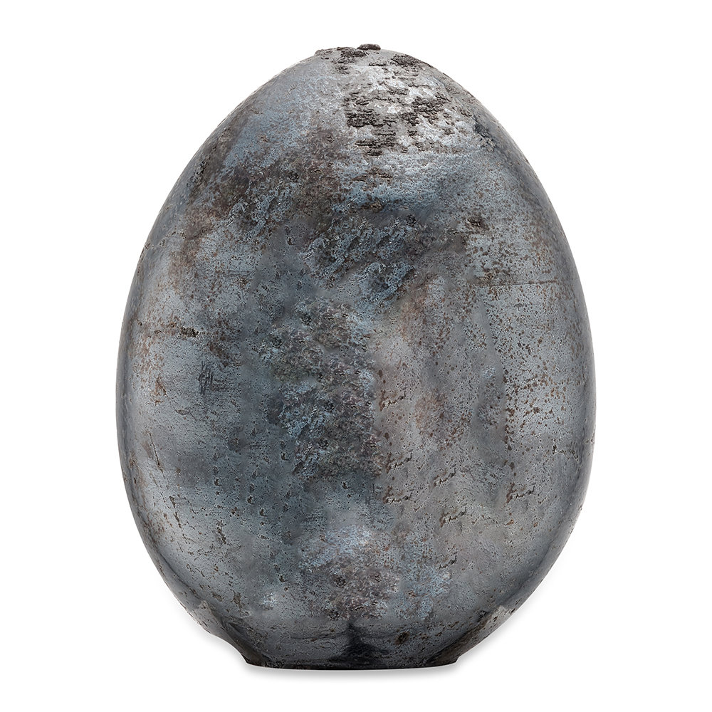 Nkuku - Aban Decorative Rustic Egg - Rustic Charcoal - Medium