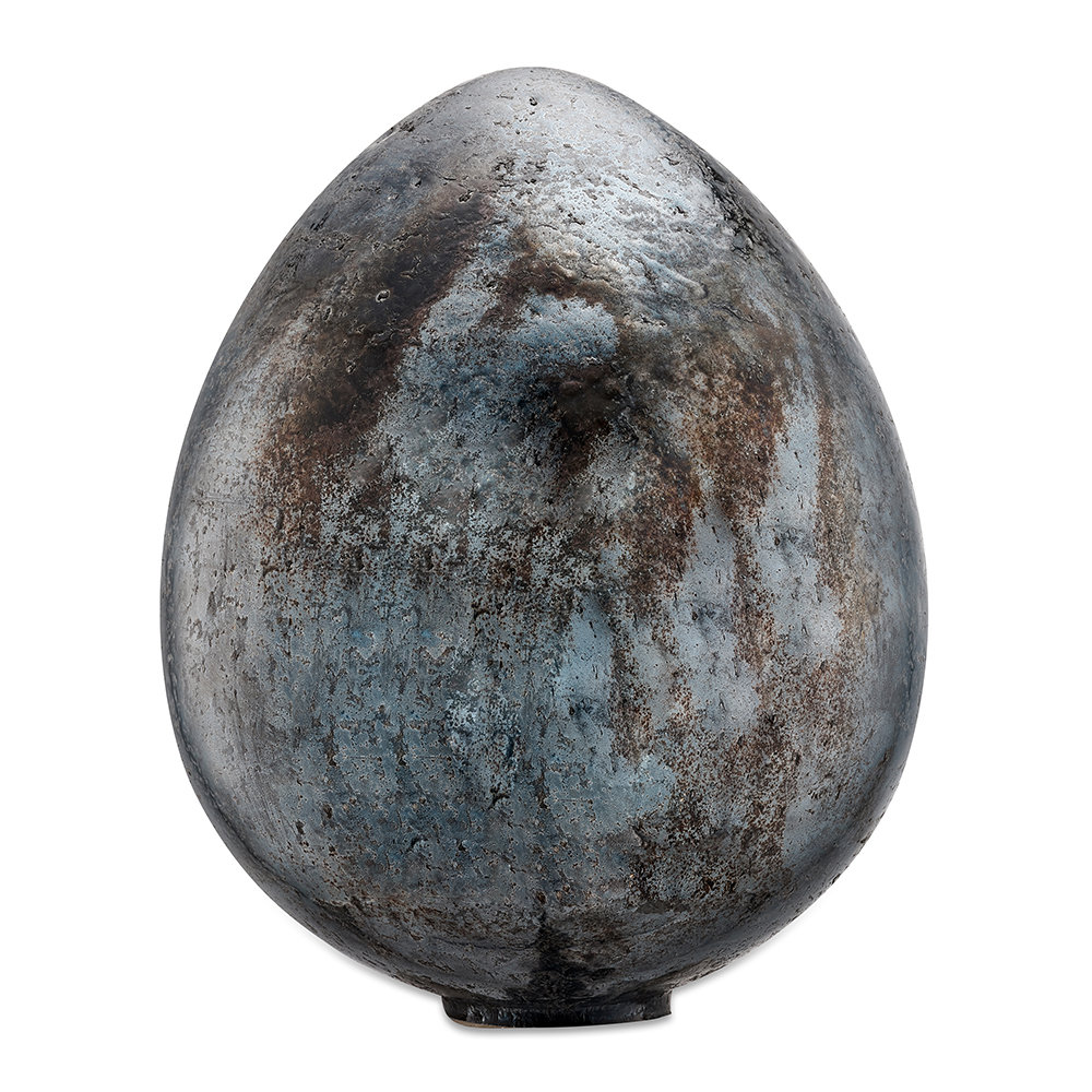 Nkuku - Aban Decorative Rustic Egg - Rustic Charcoal - Large