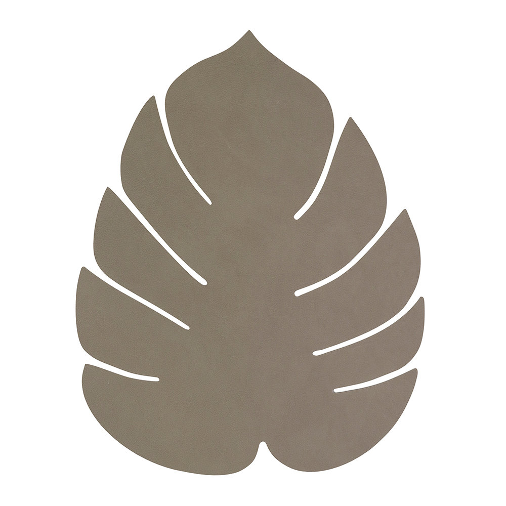 LIND DNA - Monstera Leaf Table Mat - Large - Army Green
