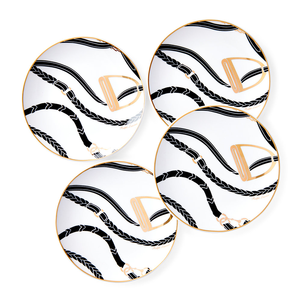Ralph Lauren Home - Amory Canape Plate - Set of 4 - Black