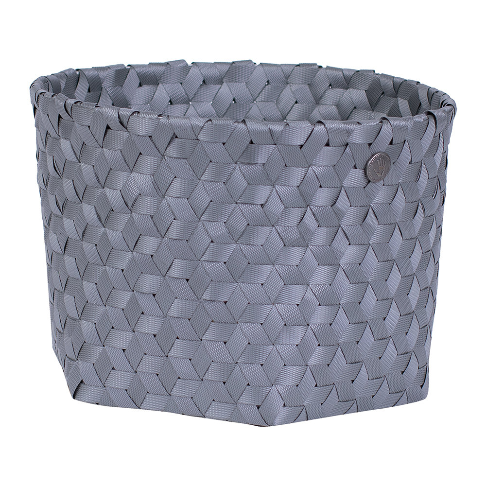 Handed By - Dimensional Open Round Basket - Small - Dark Grey
