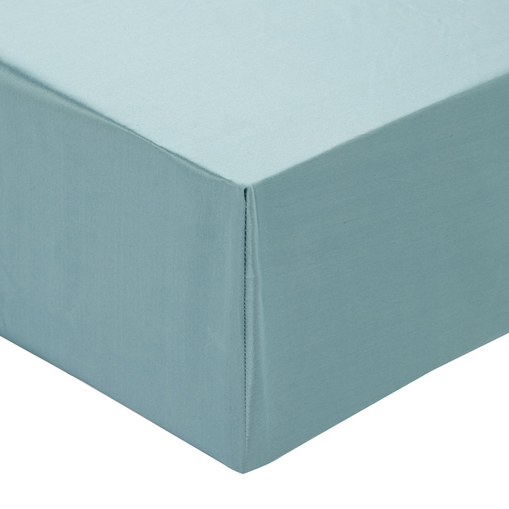 Gingerlily - 100% Silk Fitted Sheet - Teal - King