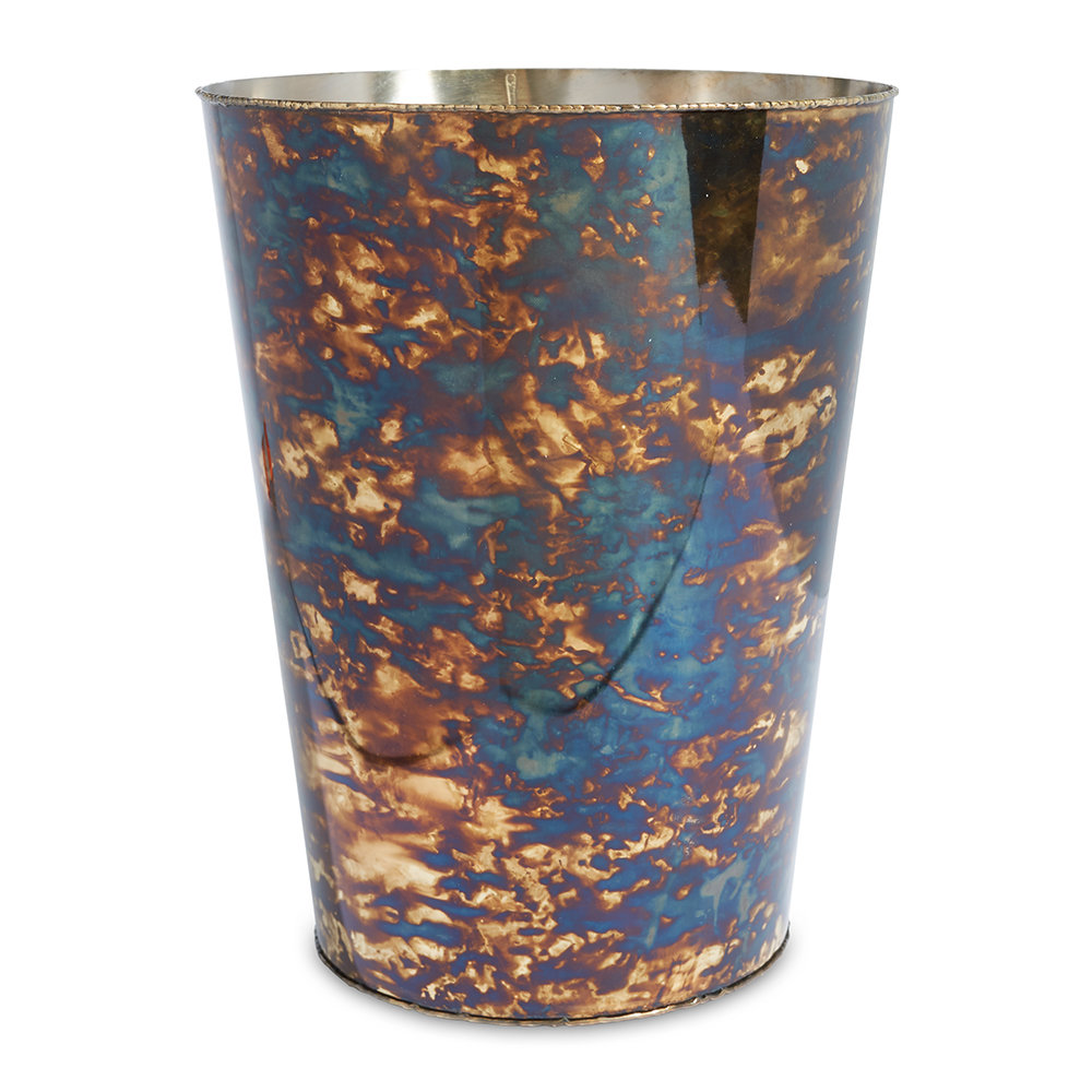 Julia Knight - Cascade Waste Basket - Rainbow Bronze