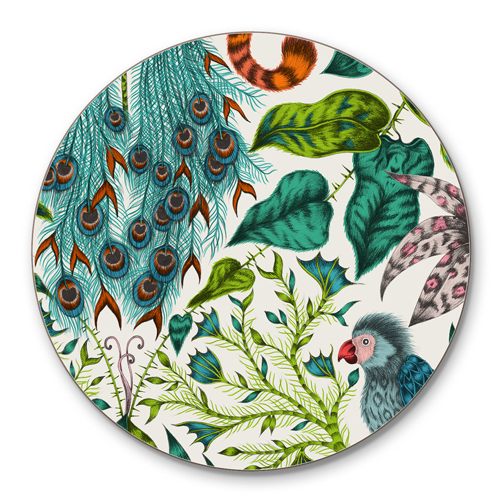 Emma J Shipley - Amazon Coasters - Set of 4 - Green