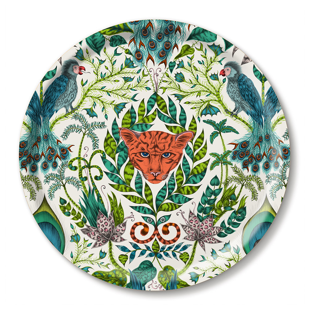 Emma J Shipley - Amazon Round Tray - Green
